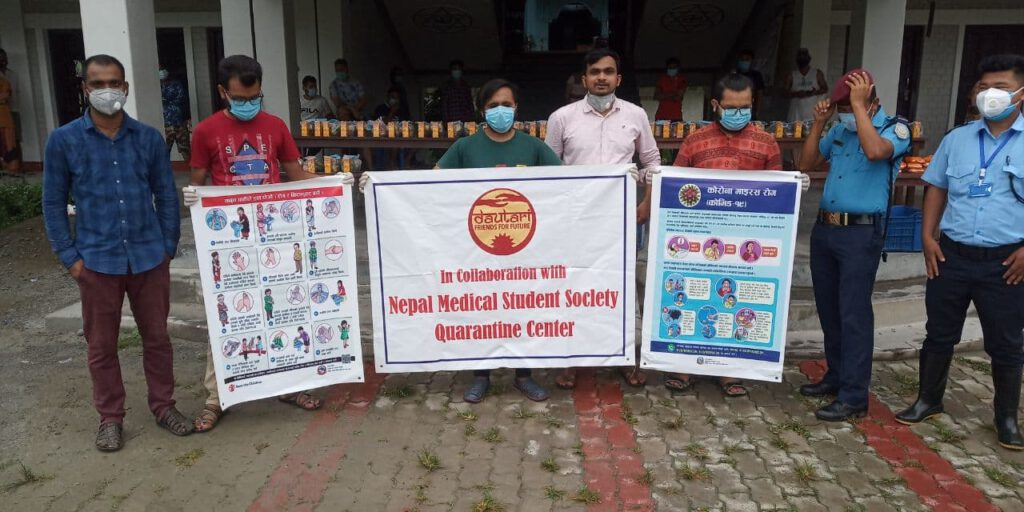 Hilfe in Covid19-Lagern in Biratnagar